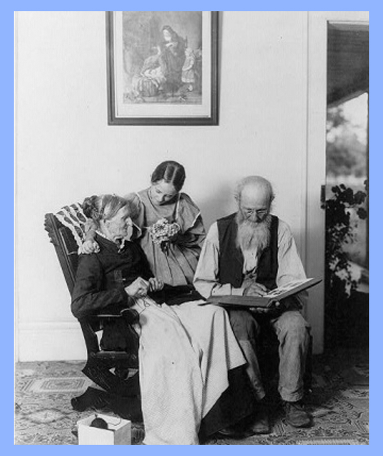 Elderly couple with woman #parents #grandparents #elderly men #elderly women #family