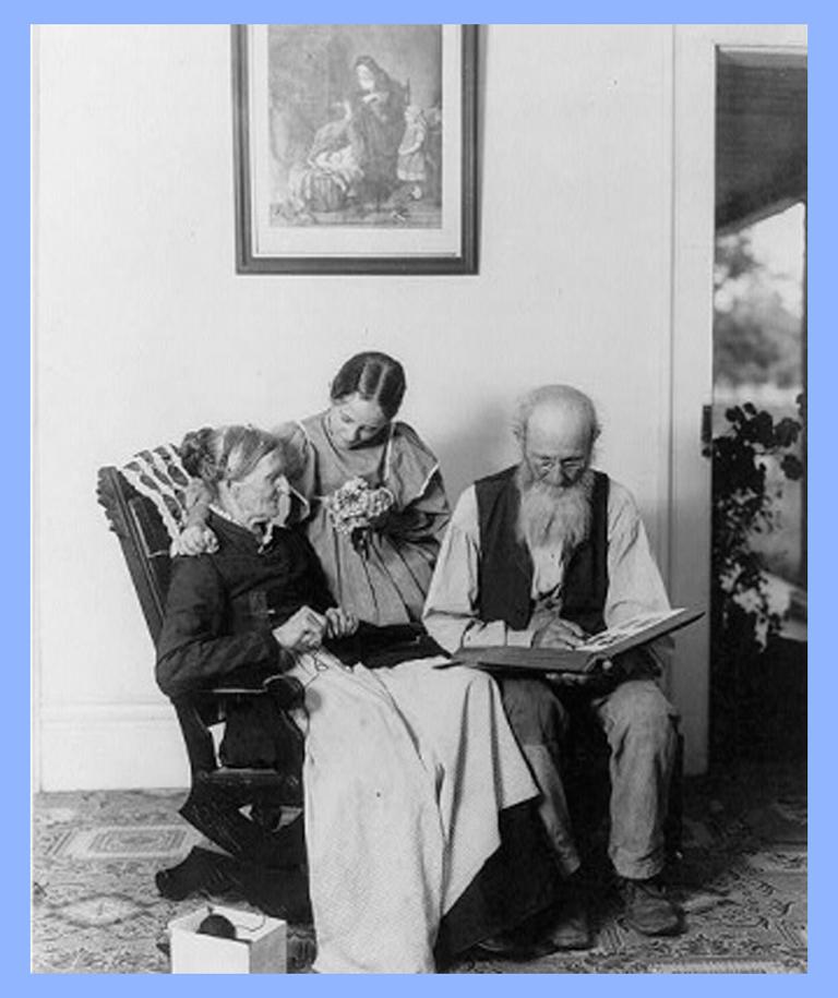Elderly couple with woman #parents #grandparents #elderly men #elderly women #family