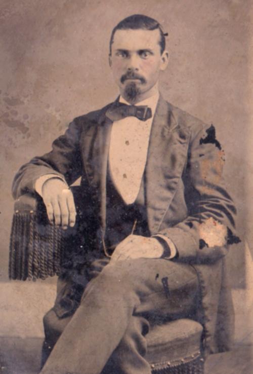George Nowlan Helvenston, portrait in tintype. #tintypes #Helvenston #George Nowlan Helvenston