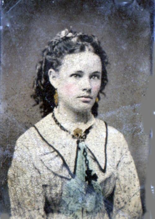 Mary Ethel Wynne Helvenston tintype photo. #Mary Ethel Wynne #Mary Ethel Wynne Helvenston